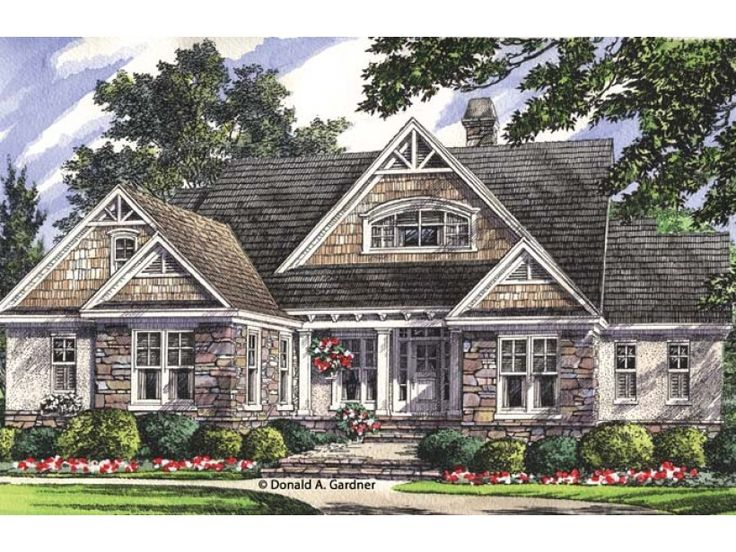 Craftsman house plan with 2569 square feet and 4 bedrooms for Craftsman house plans with basement