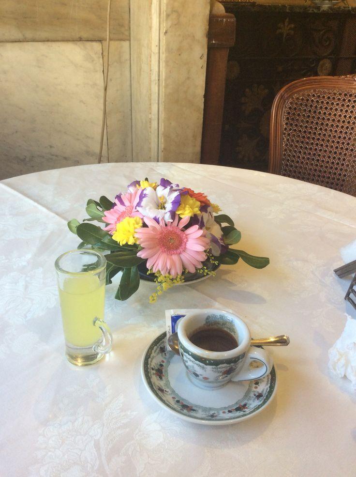 Espresso and limoncello! Napoli, Italy.