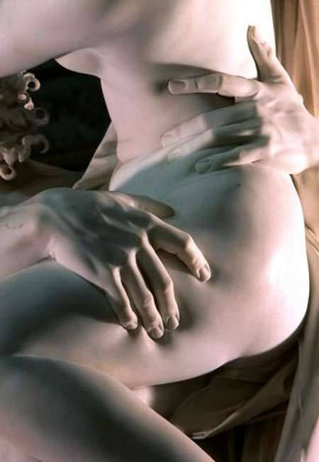 "bernini's creation  ""the rape of proserpina"""