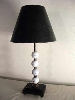 Golf Ball Table Lamp From Reclaimed Lighting