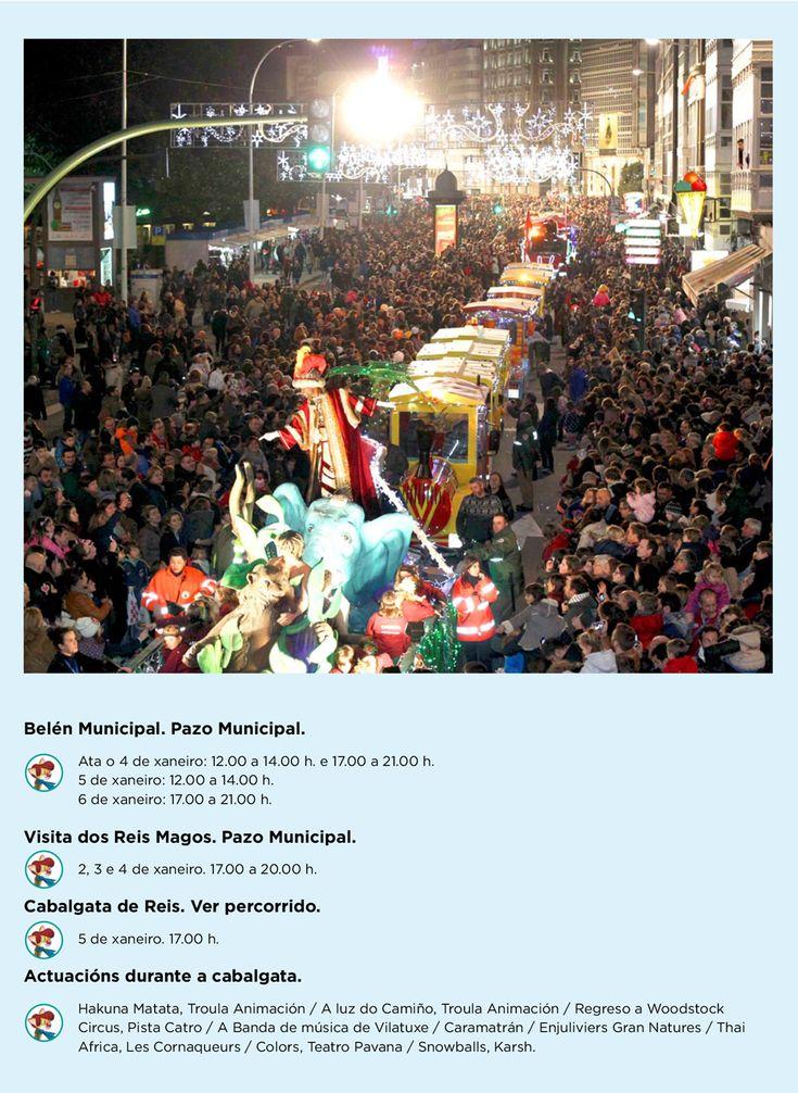 Velaquí o percorrido e as actividades que terán lugar mañá na #CabalgataCoruña. #SempreAberta #visitacoruña #Nadal #ACoruña