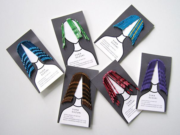 Yuka Suzuki: Hair & Make-Up Artist - A clever and functional business card for Yuka Suzuki, hair and make-up artist.