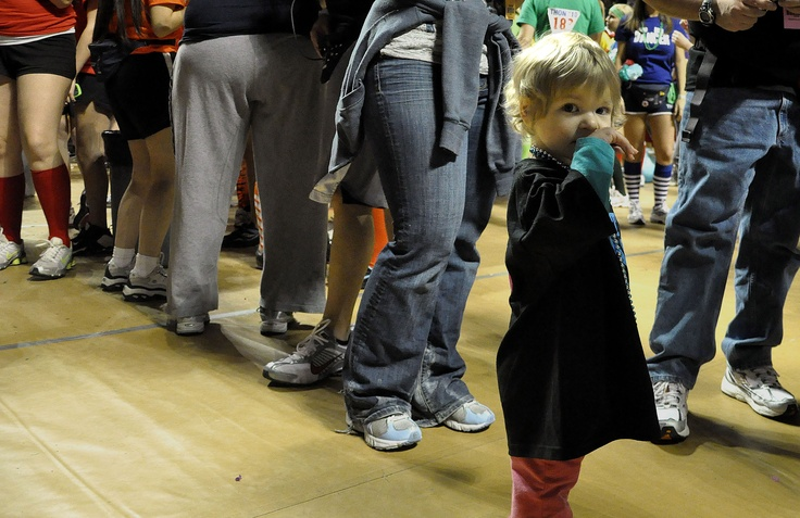 A little girl at Penn State's THON