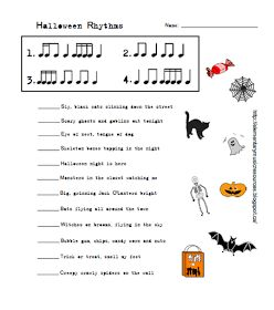 Elementary Music Resources: Music Worksheets