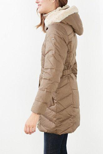 4800**EDC / Péřový kabát s odepínací kapucí