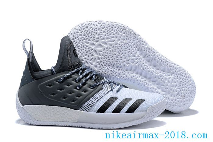 2018 Latest James Harden Mens Basketball Shoes Harden Vol.2 Gray White Black 01e887d77