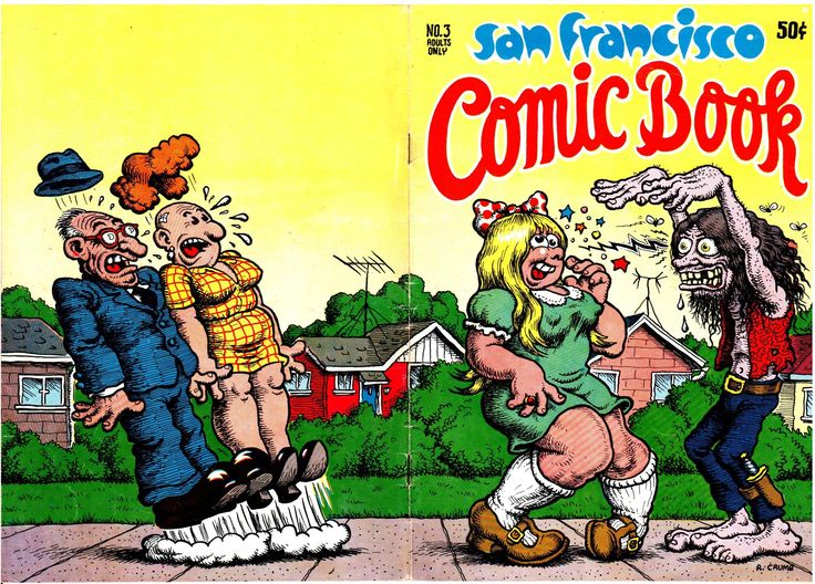 Covers from the first wave of counter-culture underground comix that became the staple of every head shop all across America circa 1967-1969