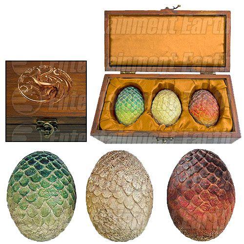 Pré-Encomenda:  Game of Thrones Dragon Egg Prop Replica Set SDCC Exclusive  Para mais informações clica no seguinte link: http://buff.ly/1iukM7G  #ToyArt #ArtisanDesigns #GoT