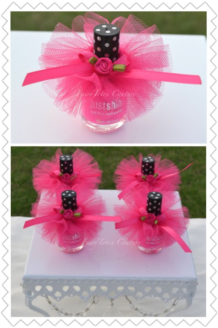 Nail Polish Tutu Favors - Nail Polish Tutu - Nail Polish Favor - Found at FairyTotes Couture on Etsy