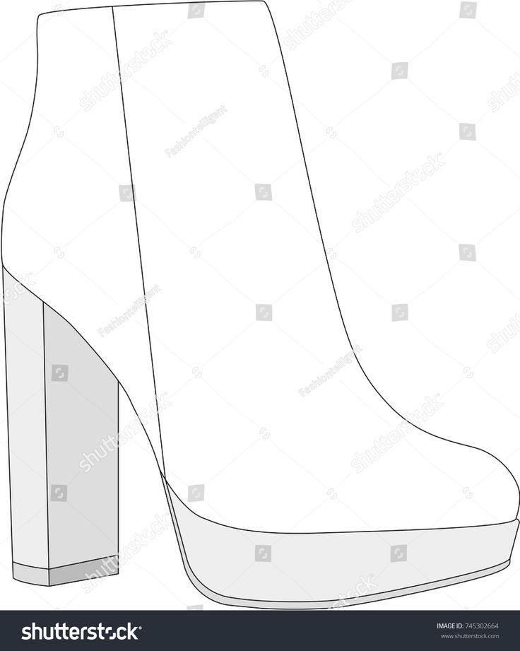 Bootie Technical Drawing #fashionflats