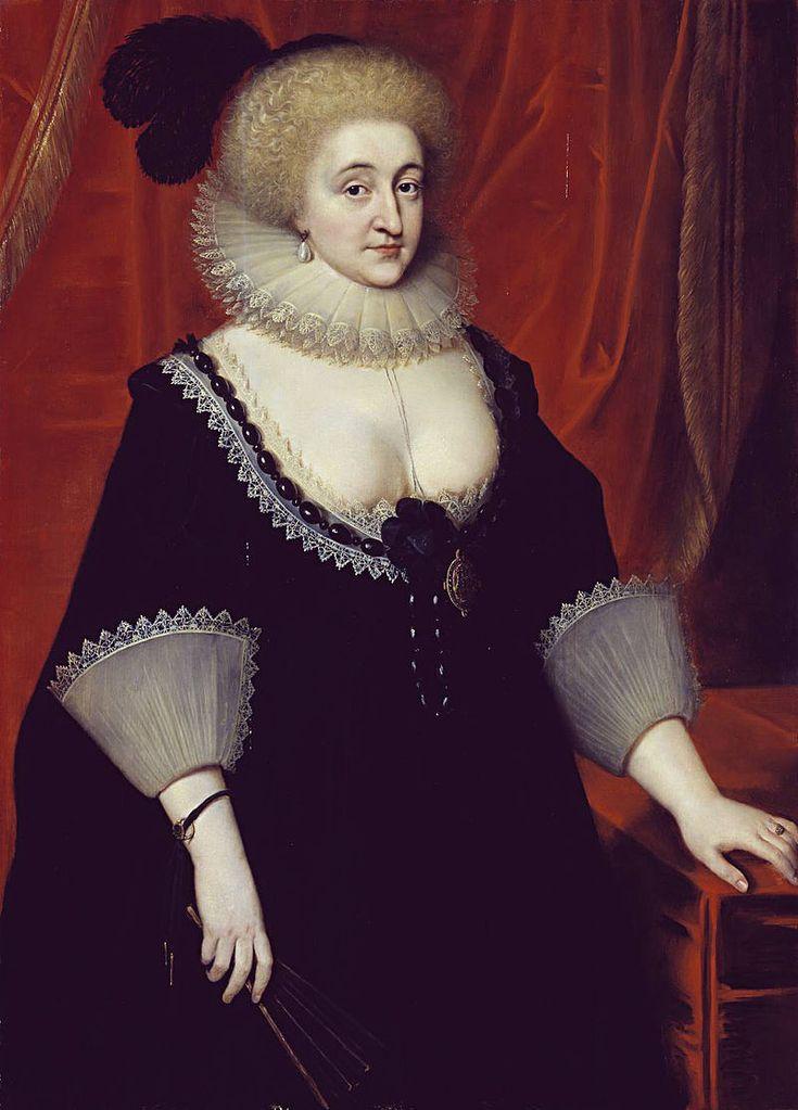 Elizabeth Grey, Countess of Kent - Van Somer c.1619 - Elizabeth Grey, Countess of Kent