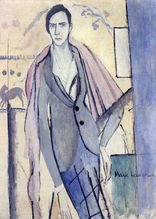 Portrait of Nils Dardel, 1913 by Marie Laurencin (French, 1883-1956).....Nils Elias Christoffer von Dardel, was a Swedish Post-Impressionist painter....born Sweden 1888....died New York City 1943....