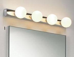 Cabaret mirror light, Wall and mirror lights, Bathroom lighting, Contemporary lighting, Holloways of Ludlow
