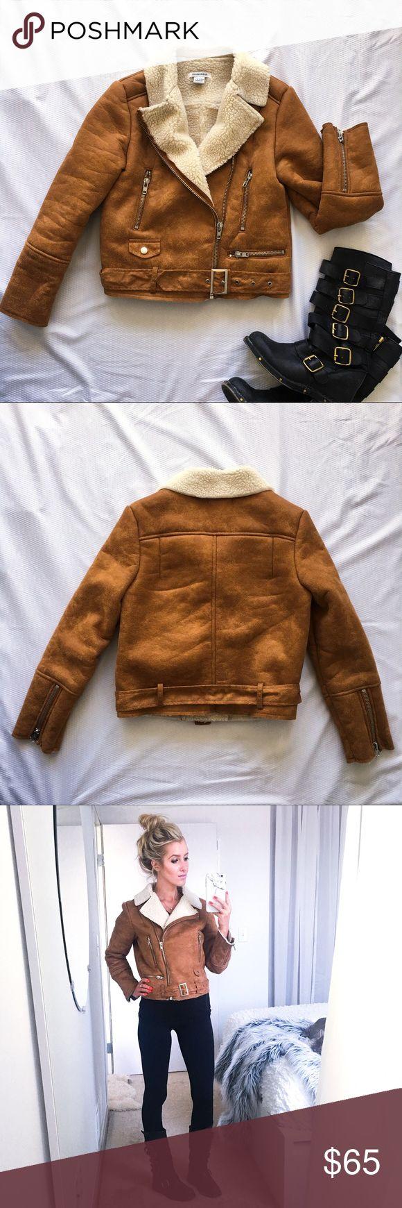 Nast Gal faux suede and shearling biker jacket Mmmmmmmm. Don't want this to leave my wardrobe 😩 Although, it's been worn twice - soooooooooo the minimalist in me says it should. Ugggghhhhhhhhhhhhhhhhhh. Great condition. Nasty Gal Jackets & Coats