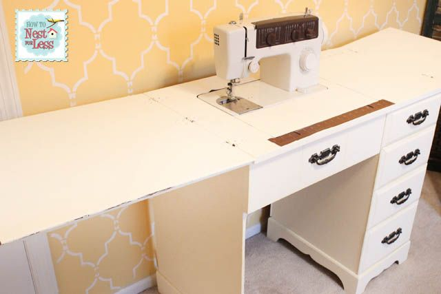 Cool How to on Nest for less to make this sewing table from an old desk!