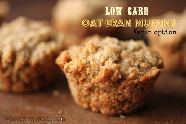 These Oat Bran Muffins are Low Carb, super easy to make, and have vegan and sugar-free options. And--they are super-filling and satisfying, and go with sweet and savory options.