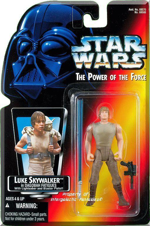 Includes Luke Skywalker figure in Dagobah Fatigues with Blue Lightsaber and Blaster Pistol! Brand new factory sealed. Orange card.