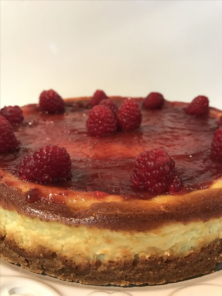 Cheesecake cotto fragola e lamponi