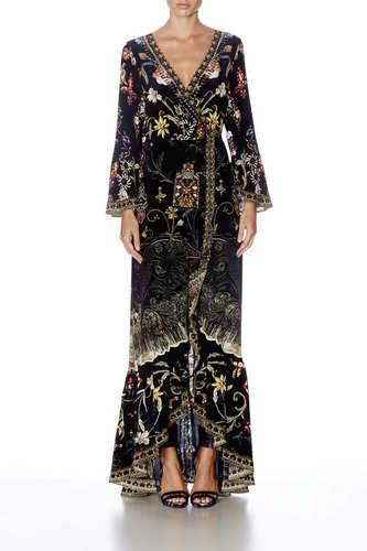 CAMILLA - Long Sleeve Wrap Dress - Dancing In The Dark