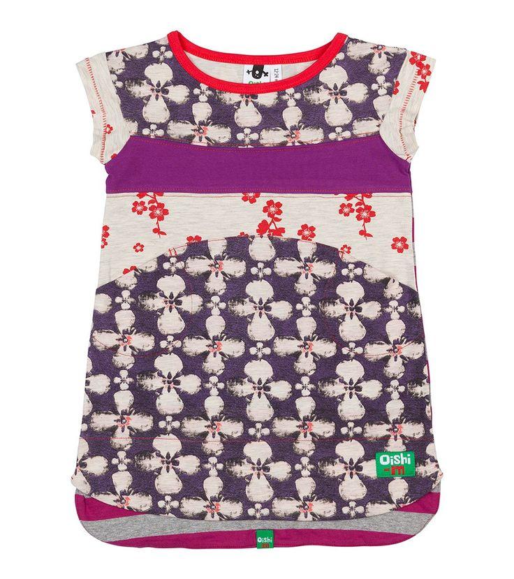 Hibiscus T Dress, Oishi-m Clothing for kids, Hi Summer 2015, www.oishi-m.com