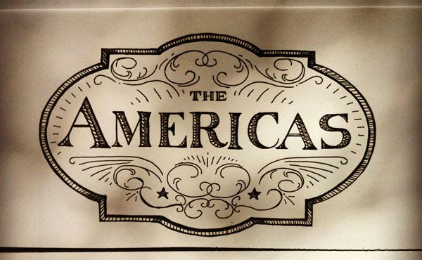 America Map Lettering Sketch - Jacqui Oakley