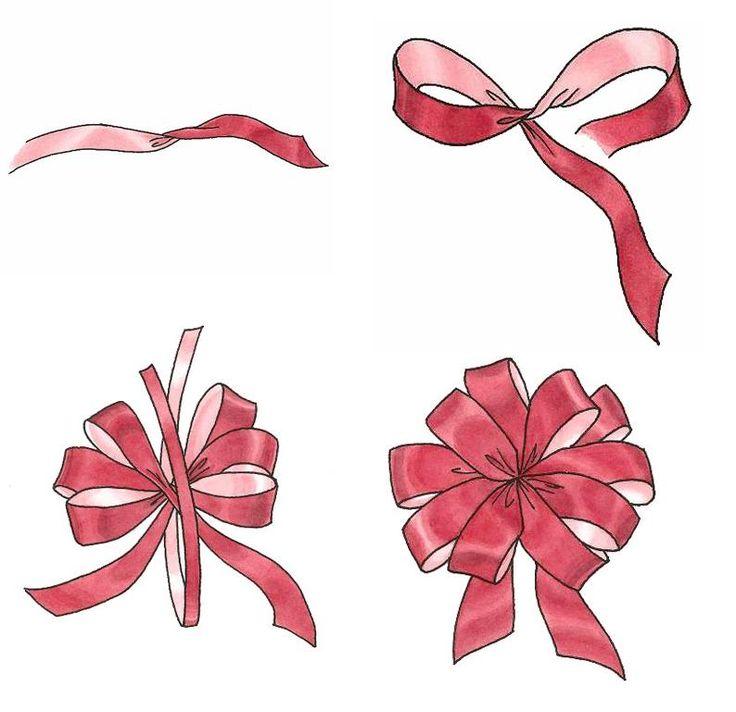 Como hacer mo os para tus regalos navidad cumplea os - Lazos con cintas ...