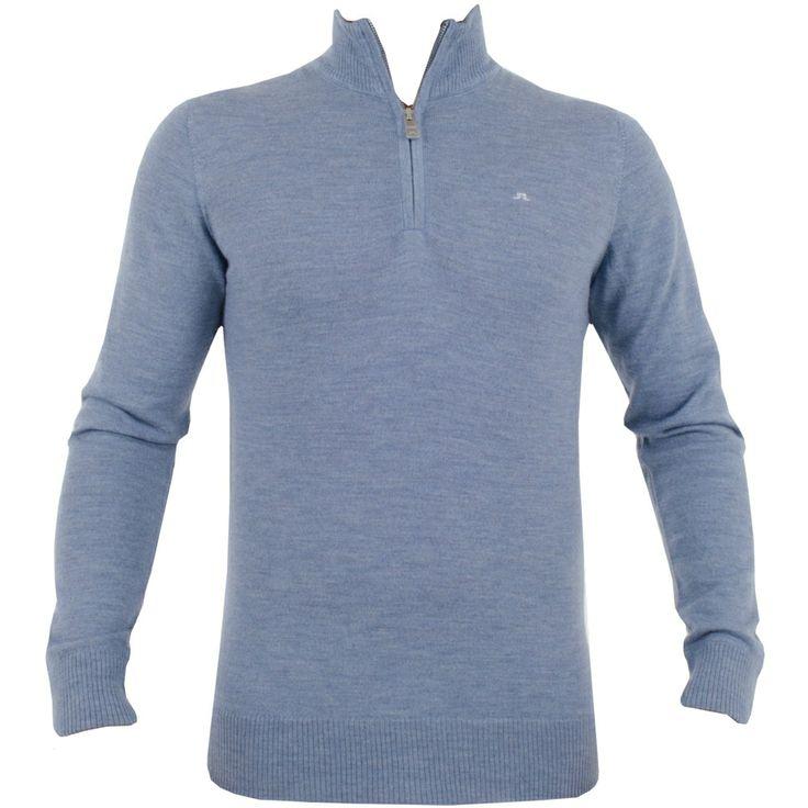 J Lindeberg Kian Patch True Merino Blue #golf #fashion #trendygolf #jlindeberg
