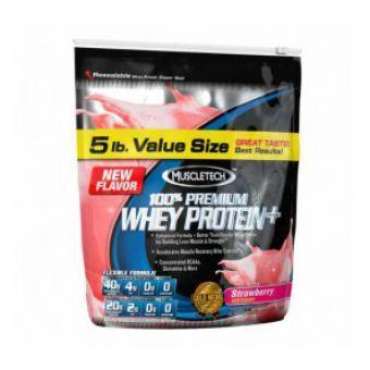 100 % PREMIUM WHEY PROTEIN PLUS de MuscleTech est riche en Protéines, faible en Lipides : 20 g de protéines de qualité supérieure, 1 g de graisses et 0 g d\'aspartame par shake !   100 % PREMIUM WHEY PROTEIN PLUS utilise plusieurs technologies de filtration pour réduire les graisses, le lactose et les impuretés des protéines de lactosérum.  Les protéines de Lactosérum ou Petit-lait aident au maintien et à l\'augmentation de la masse musculaire. 100 % PREMIUM WHEY PROTEIN PLUS vous propose…
