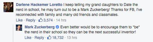 Mark Zuckerberg's Response To People Who Tell Girls To 'Date The Nerd'
