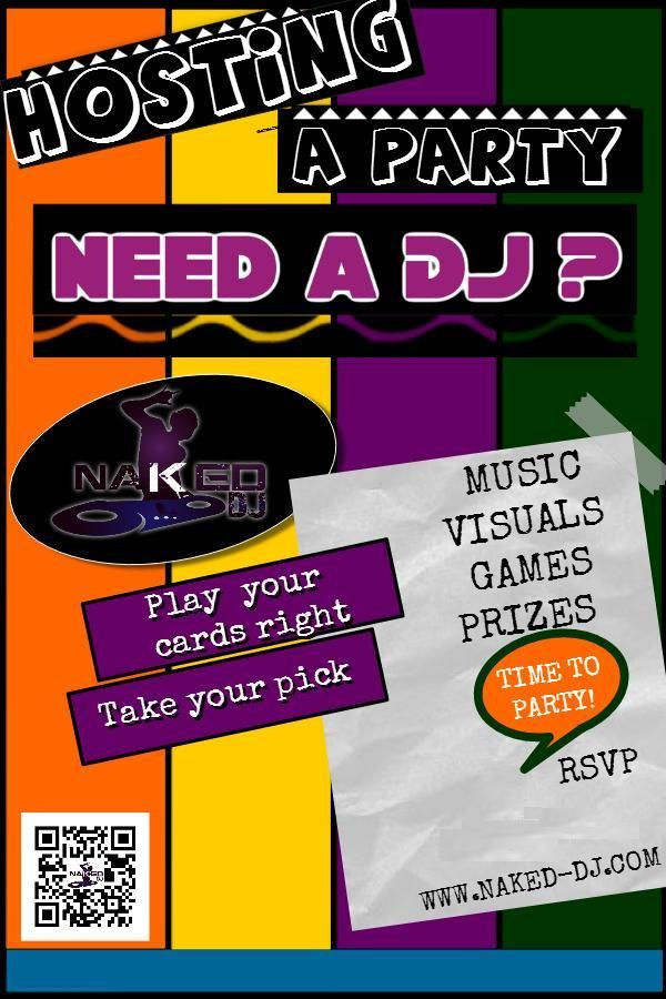DJ for hire, visit website for more.  #NakedDJ  #party #music #games #prizes