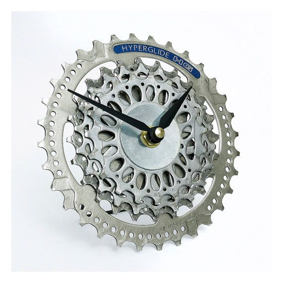 Bike Desk Clock / Bicycle Gear Clock / Bicycle by treadandpedals