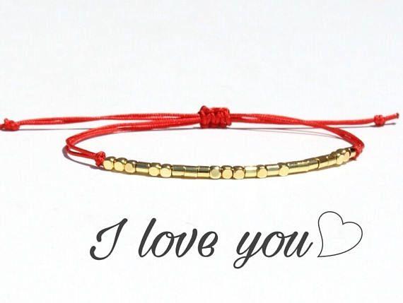 I love you bracelet-Morse code Bracelet-I love you morse code
