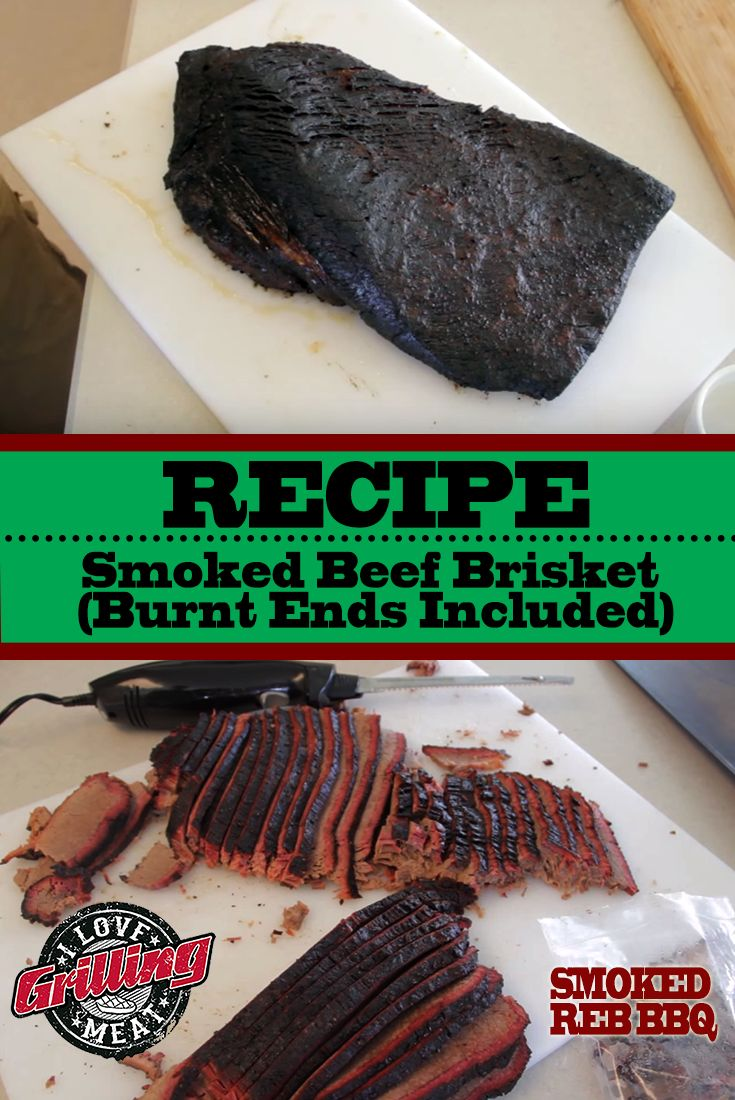 Smoked Beef Brisket Recipe (Burnt Ends Included)