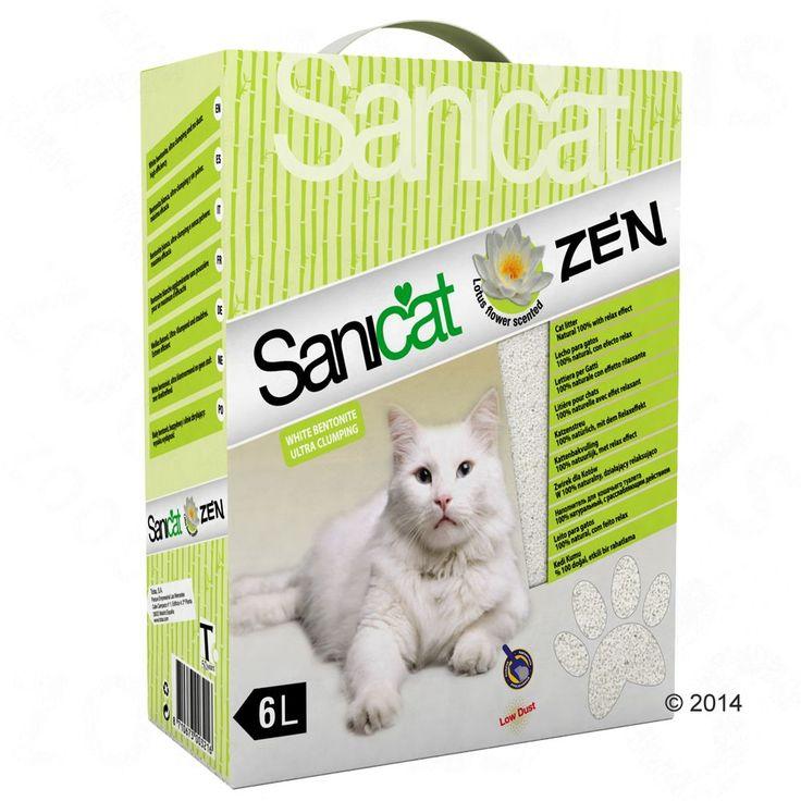 Animalerie  Litière Sanicat Zen pour chat  6 L