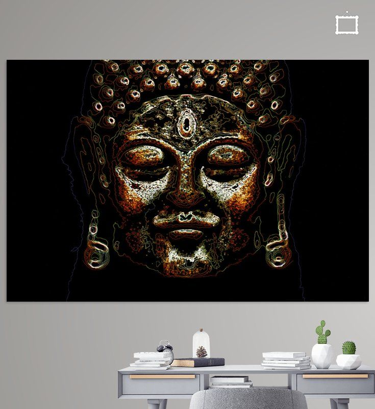 Tevreden Boeddha van Jolanta Mayerberg