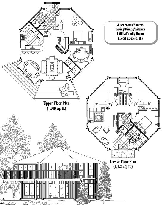 Best Octagonal Folly Images On Pinterest Octagon House - Cool octagon house plans