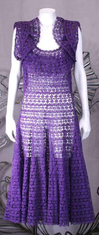 Cotton Lace Fiesta Dress, 1950s 2