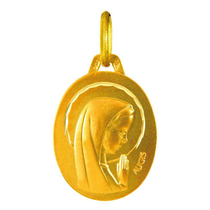 Medaille Vierge or jaune Augis Médaille Sainte Vierge (or jaune 18ct) sur PremierCadeau.com