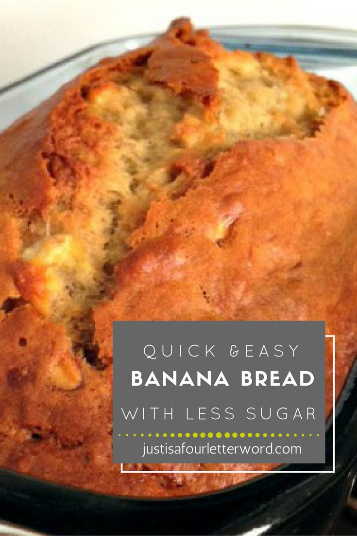 Use this quick and easy banana bread recipe with Splenda or Splenda Sugar Blend to cut on added sugar. Don't want to use Splenda? No problem. Just use sugar in it's place.