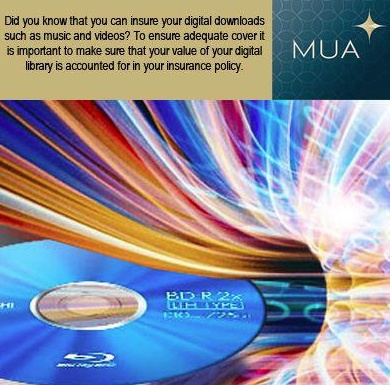 Did you know you can insure your digital music and movie collection?