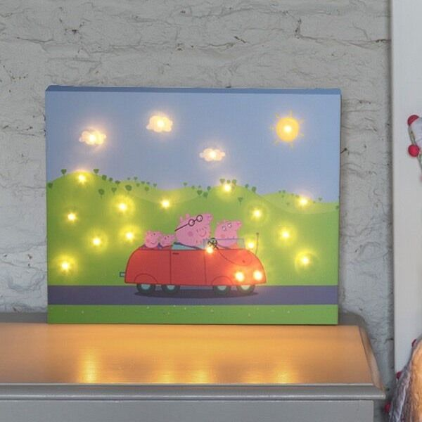 I Just Love It Peppa Pig Light Up Wall Art - Family Car Peppa Pig Light Up Wall Art - Family Car - Gift Details. Any child who watches Peppa Pig will know Peppa is quite the little adventurer. Our Light Up Peppa Pig Wall Art captures Peppa and the family d http://www.MightGet.com/january-2017-11/i-just-love-it-peppa-pig-light-up-wall-art--family-car.asp