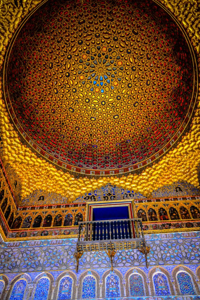 Hall of the Ambassadors at Royal Alcazars of Sevilla - Seville Spain