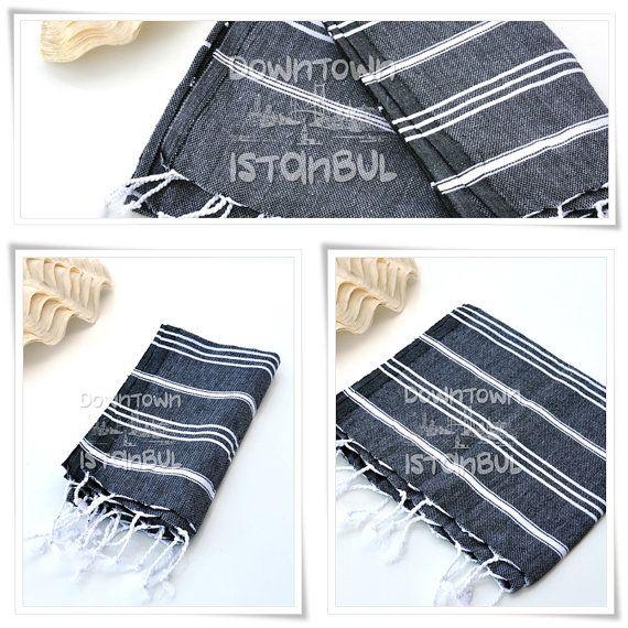 HAND TOWEL SET of 3 Head Towel Set Peshkir by DowntownIstanbul, $24.99