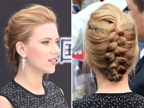 Scarlett Johansson's style works with mid-length and long hair.