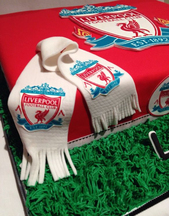 Liverpool football cake. Follow me on www.sugarrushparties.wordpress.com