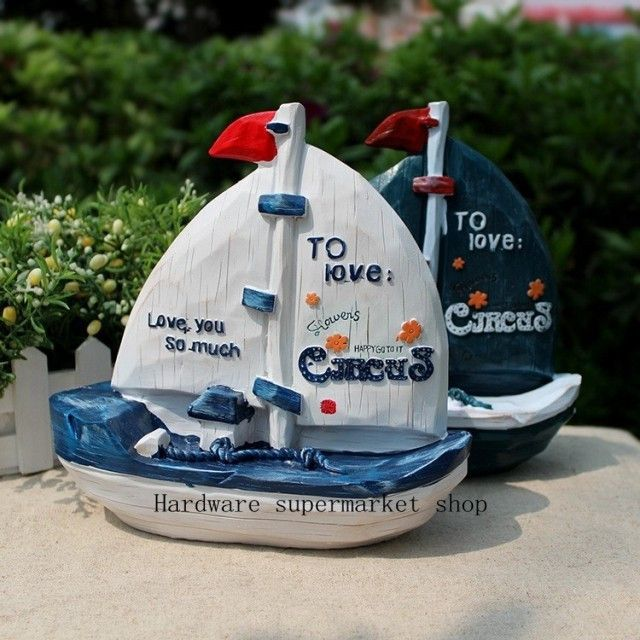 Creative resin saving pot of Mediterranean style sailing saving pot / savings pot creative gift,Piggy bank