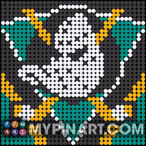 Anaheim Mighty Ducks - $50 Pushpin Art Portrait. Click here to buy your own custom design today.   http://mypinart.com/pages/ct/nhl/anaheim.html