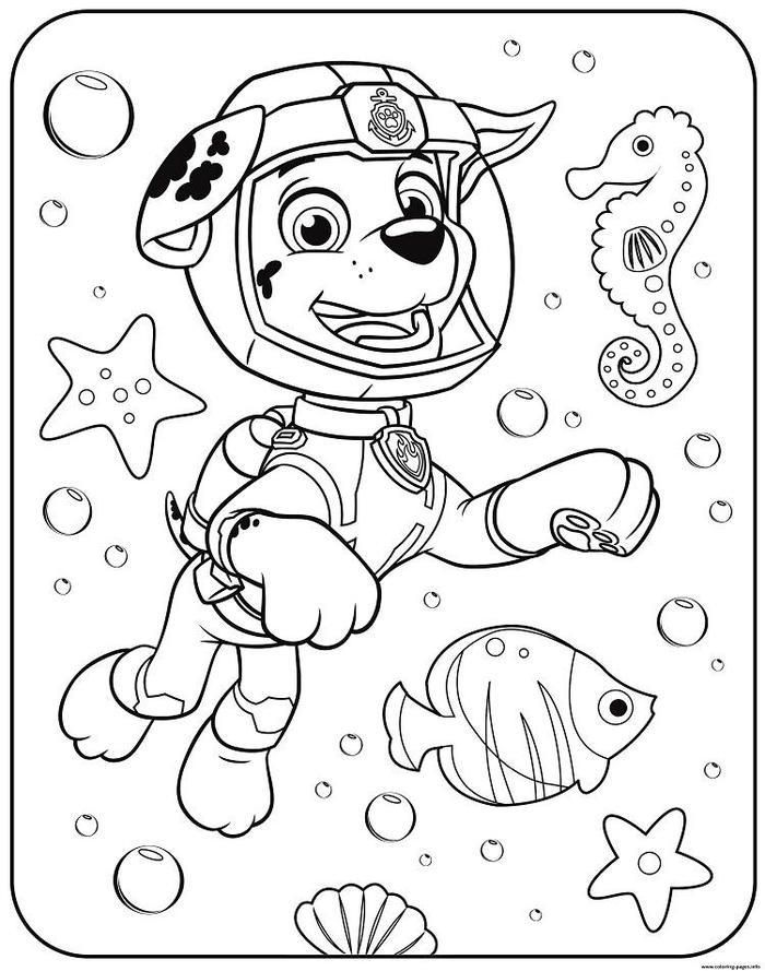 Paw Patrol Underwater Coloring Pages Paw Patrol Coloring Pages Paw Patrol Coloring Peppa Pig Coloring Pages