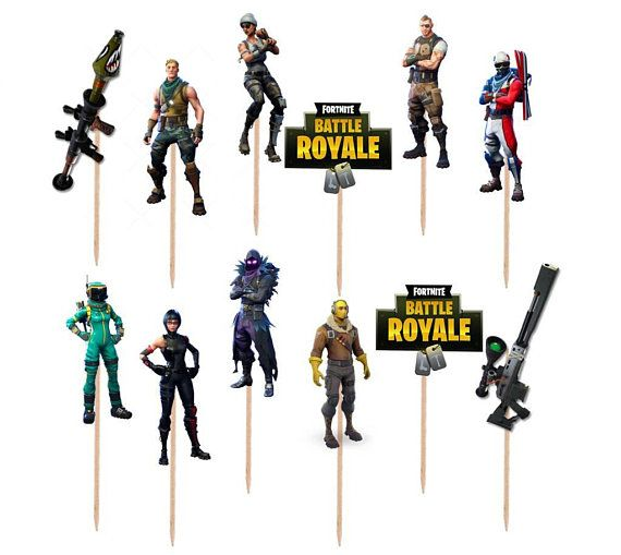 12 Or 24pc Fortnite Cupcake Toppers Fortnite Party Supplies Read Item Details Before Purchasing Shippin Cupcake Toppers Balloon Decorations Party Fortnite