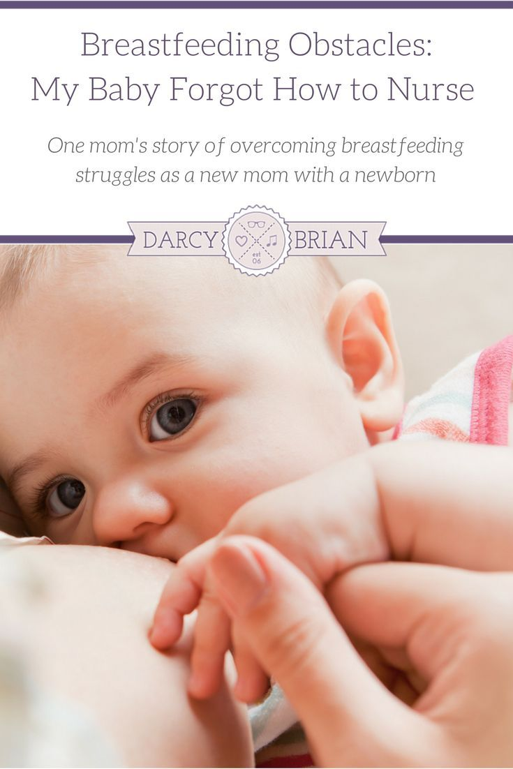 Breastfeeding your baby has its challenges. I know, because I almost gave up a couple weeks after my first baby was born. This is my story of overcoming a breastfeeding obstacle when my newborn forgot how to nurse. via /darcyz/